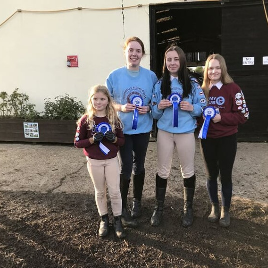 Our winners of our inhouse Pony Club comp in October