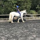 Hula riding Archie bareback