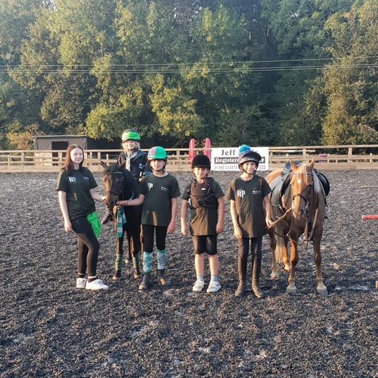 Team Slytherin ready for gymkanas