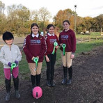Our 4th place team in our inhouse Pony Club competiton in October