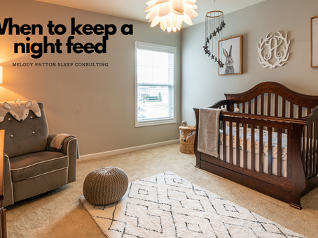 When to keep a night feed