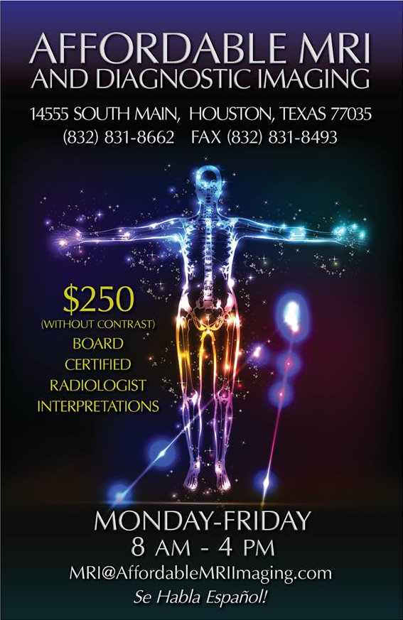 Quality affordable MRI exams in Houston Texas