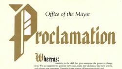 Creativity City Proclamation