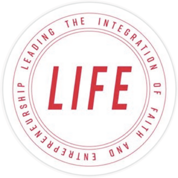 digital logo that reads leading the integration of faith and entrepreneurship life