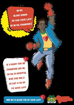Blood donation Hero - CUAMM by inkeemedi