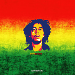 Happy Birthday Bob Marley by Inkeemedia-
