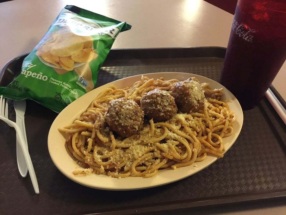 Spaghetti with meatballs (small plate)