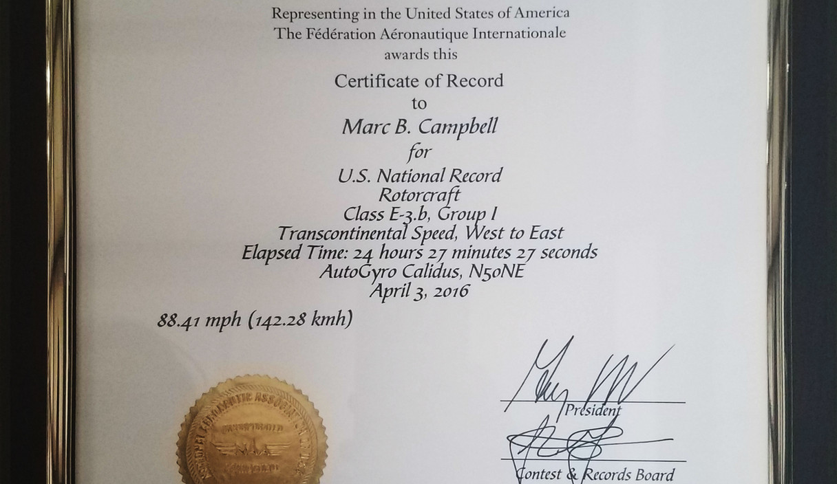 Transcontinental Speed West to East
