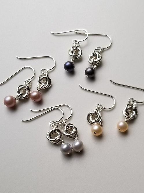 Pearl Mobius Earrings