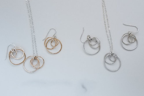 Orbits Earring and Necklace Set
