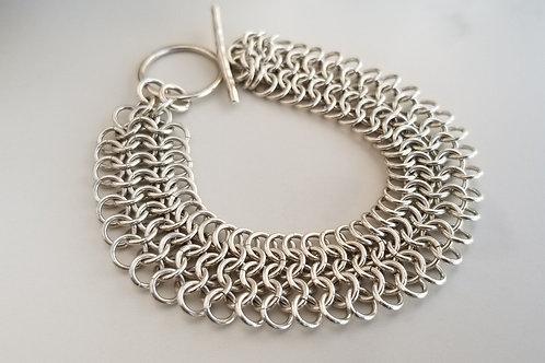 Sterling Silver 4 in 1 Maille Bracelet
