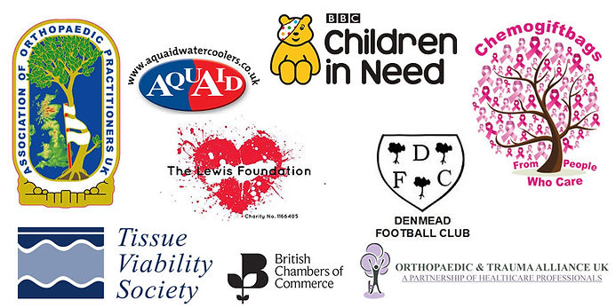 image with different logos of charities that thesis technology support
