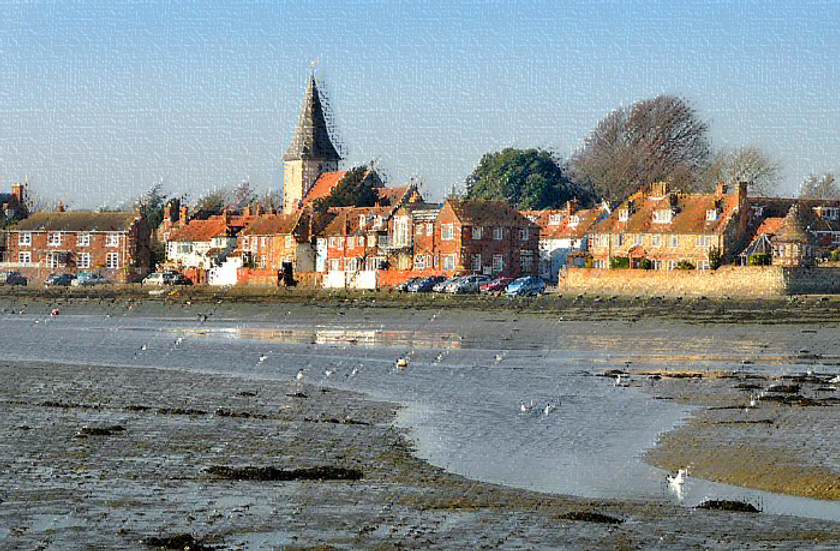 image of bosham harbour, tide out