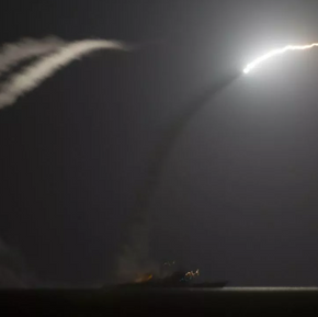 US Tomahawk Missiles Rain On Syrian Airfield