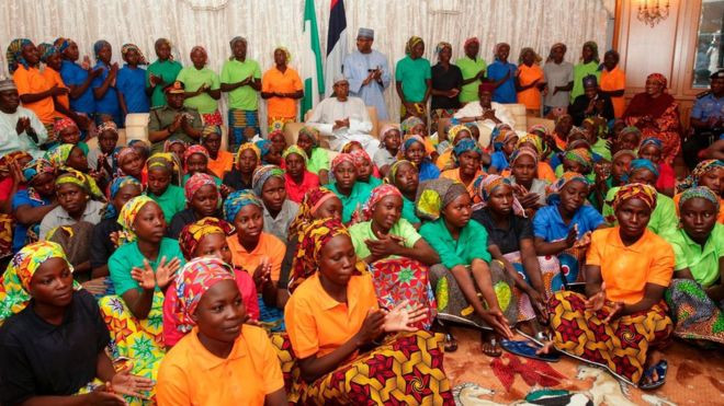 AFP Picture 82 Chibok Girls Freed