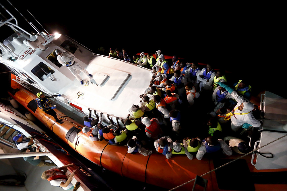 Migrants Rescued by Italians earlier this month