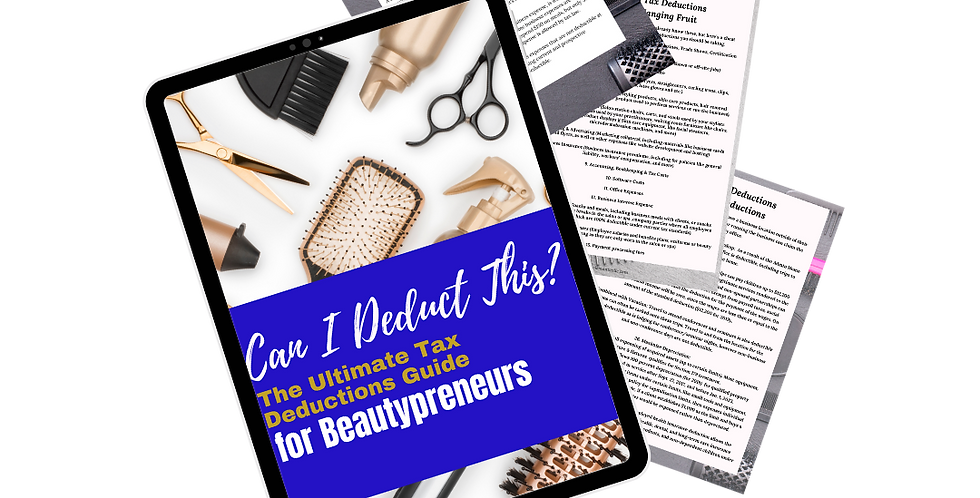 The Ultimate Tax Deductions Guide for Beautypreneurs