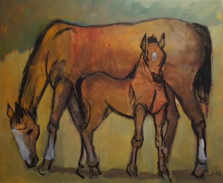 No. 23: Horse - Mother and Child
