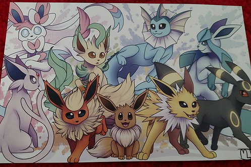 Eeveelutions Digital Wallpaper by Noko