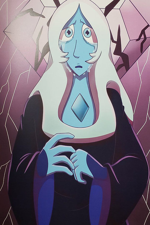 Blue Diamond Print