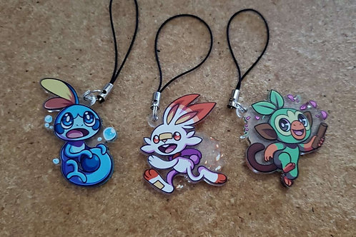 Pokemon Sword and Shield Starter Charms (LIMITED EDITION!)