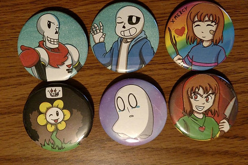 Undertale Button Set