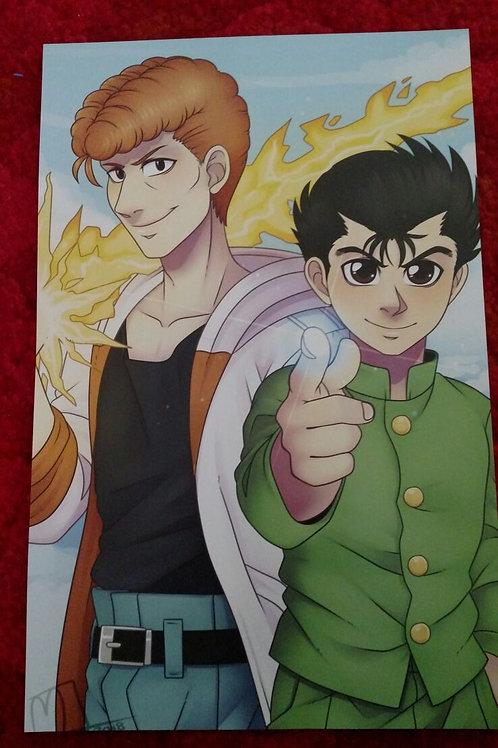 Yusuke and Kuwabara by Noko