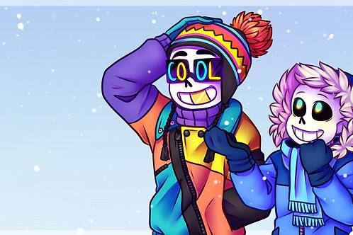 Winter Bros Digital Wallpaper by Noko