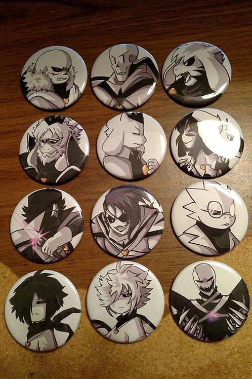 X-Tale Button Set by Jakei