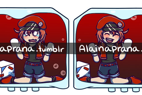 Cells At Work! Red Blood Cell Charm