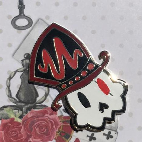 Hatter Cookie Enamel Pin by FallenFellFrisk