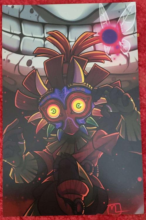 Skull Kid Print by Noko