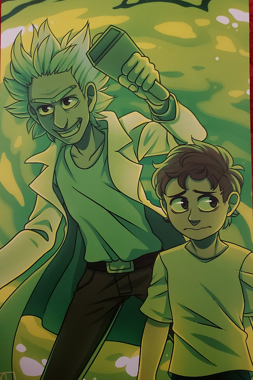 Rick and Morty by Noko