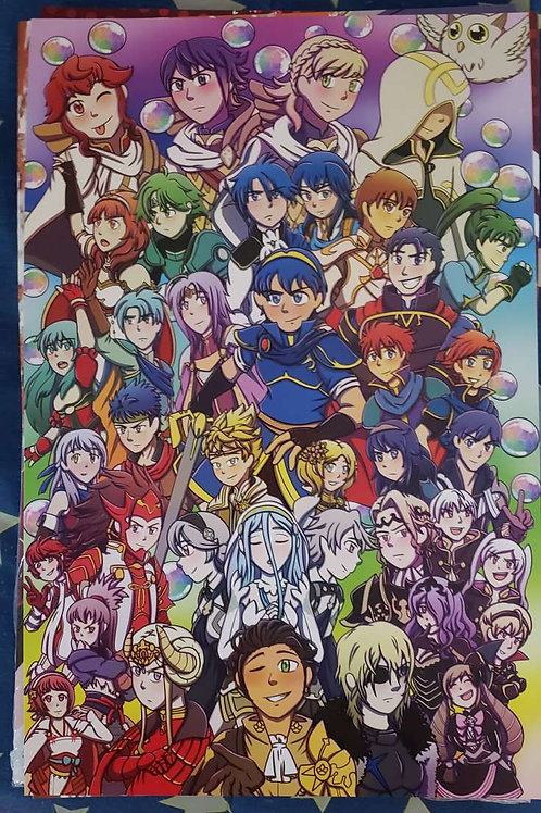 Fire Emblem 30th Anniversary Print