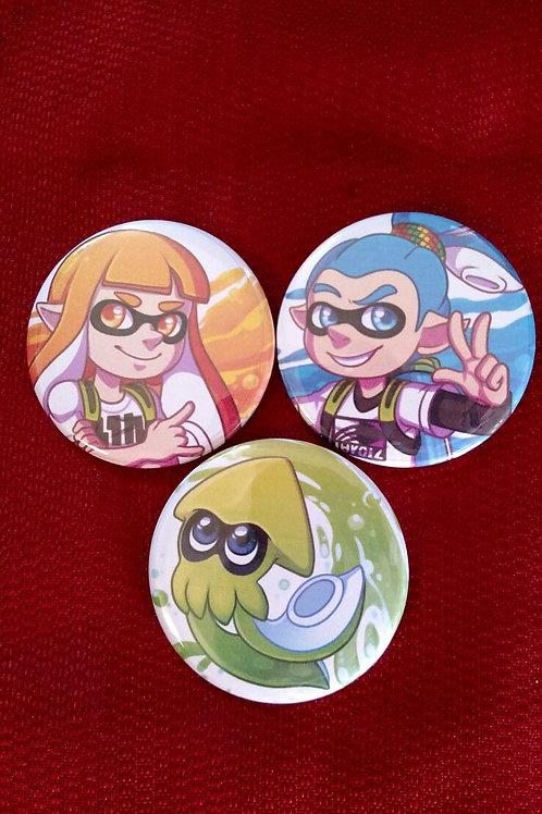 Splatoon Buttons by Noko
