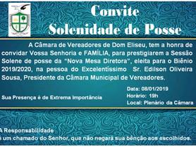 SESSÃO SOLENE DE POSSE DA MESA DIRETORA