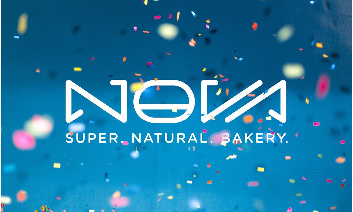 Nova Bakery confetti logo
