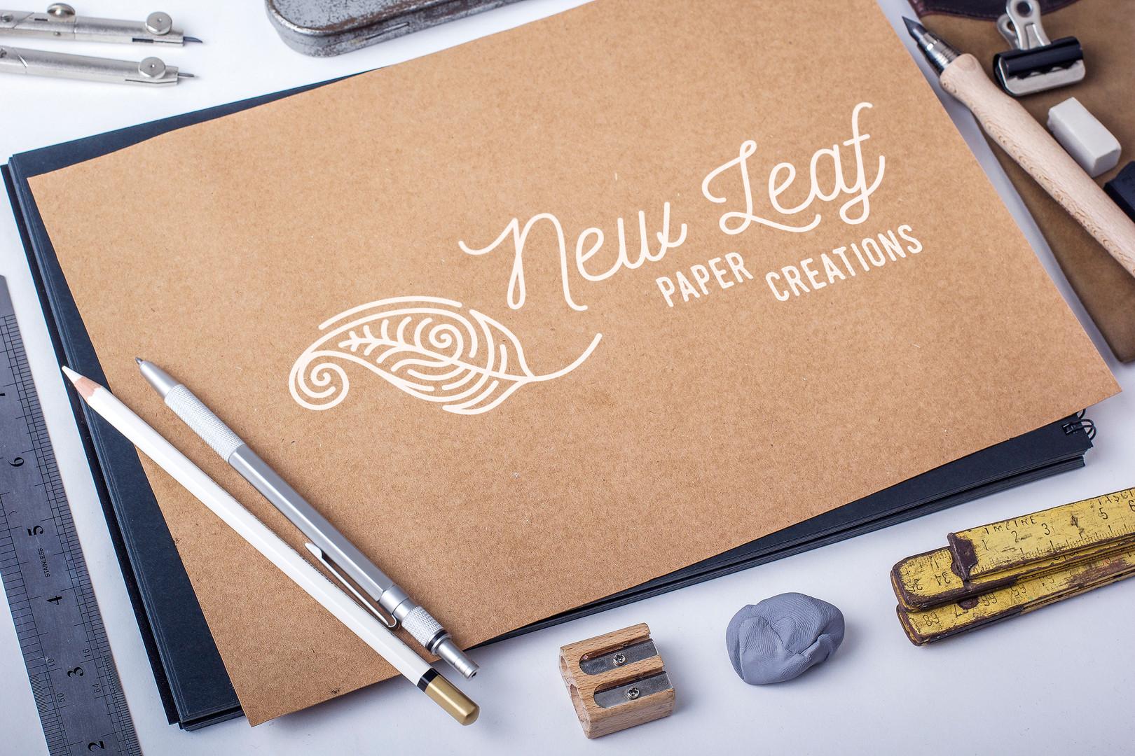 New Leaf paper creations logo