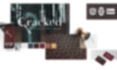 Cracked Escape brand design collage