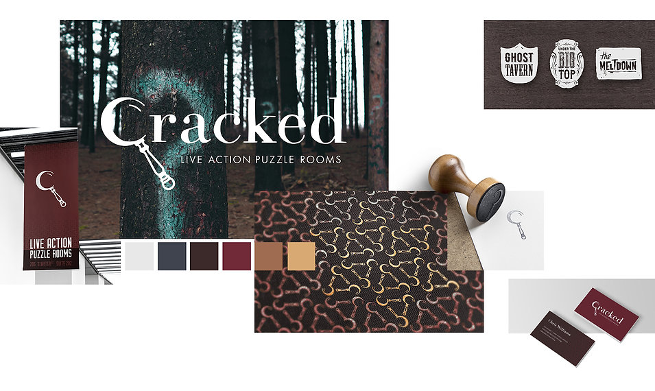 Cracked Escape brand design collage
