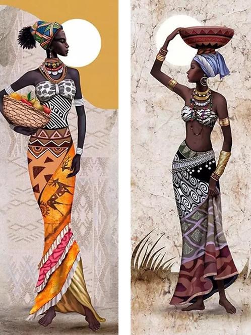 HUACAN 5D DIY Diamond Painting Kit Portrait Diamond Embroidery Cross Stitch Afri