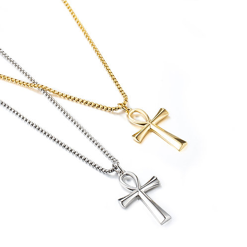 Craft Wolf  African Stainless Steel Personalized Cross Necklace