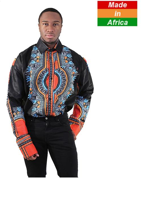 Traditional Print Dress Shirt