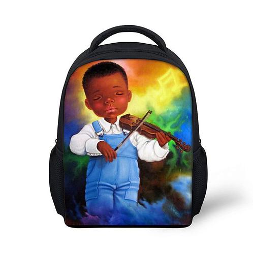 Customized Logo School Bags for Boys Kids Afro Black American Africa Boy Print K