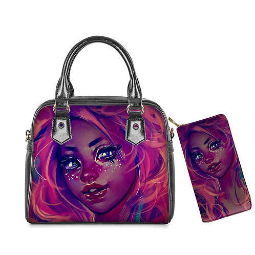 brand luxury beautiful african girls printed purse and leather tote bags casual