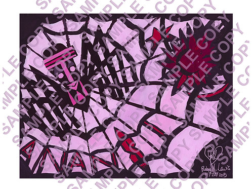 Anansi Gouache Painting Photo Poster