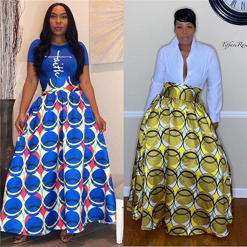 Clothing Vendors F91939 ladies dress knee length multi color women skirt elegant
