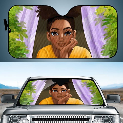 Custom Car Window Sunshade Africa Black Girl Printed Wholesale Car Sunshade Fold