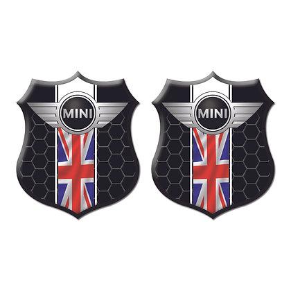 Mini Cooper Black Shield x2pcs s.n: M1531