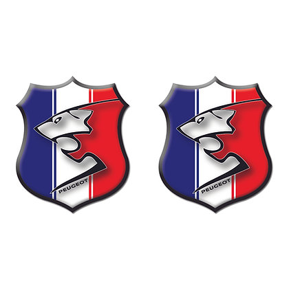 Peugeot France Flag Shield x2pcs s.n:P9801